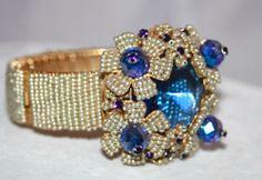 Stanley Hagler N Y C Beautiful Faceted Glass Bracelet Part of Grand Parure | eBay