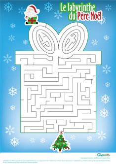 dessin noel Gluten Free Recipes pancakes w gluten free flour Christmas Crafts For Kids, Xmas Crafts, Christmas Holidays, Merry Christmas, Christmas Decorations, Xmas Games, Mazes For Kids, Maze Game, Advent