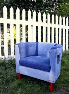 Armchair SOLSTA OLARP and old jeans