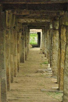 Beautiful walkway among the ruins in Hampi, Karnataka. #mustseeinIndia #KarnatakaTourism #IncredibleIndia