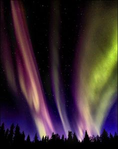 Aurora Borealis.  Another example of the Aurora being formed along the electromagnetic currents flux.