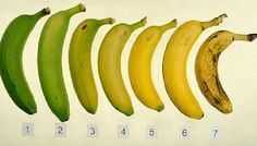 banana scale colour and health neutrition content