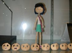 Laika/Selick Coraline Models - Coraline with faces