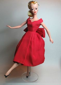 "11"" Bild Lilli doll in original MINT/CRISP # 1109 Poplin dress  #MidCentury Dolls  #Dollshopsunited"