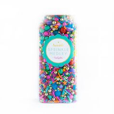 This lovely mix is a premium, one-of-a-kind mix of some of the fanciest and most luxe and moroccan-inspired sprinkles in the universe, including jewel-toned jim