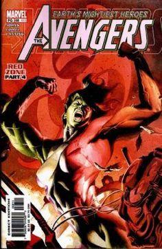 Red Zone Part 4 - Muscles - Red - Earths Mightiest Heroes - Marvel - J Jones