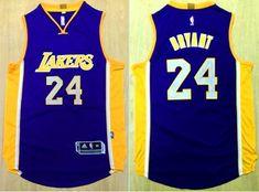 Revolution 30 Lakers #24 Kobe Bryant Purple Stitched NBA Jersey