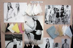 Fashion Moodboard - black & white fashion with hints of colour // Tibi Spring 2013
