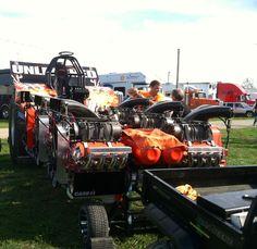 Brian Shramek unlimited pulling tractor