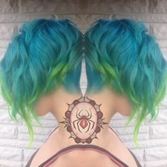 Pride left side #wickedhairdesign #wickedation #kcstylist #kccolorist #igkansascity #hairdressermagic #hairbrained #btcpics #1000orbust #hotonbeauty #modernsalon #unicornhair #unicorntribe #mermaidhair #hairspiration #hairenvy #beautylaunchpad #paintedhair #stylistshopconnect #mermaidians #bluehair #undercut #rainbowhair #manicpanic #pravanavivids #greenhair #pride2015 #pridehair #assymetriccut #assymetricbob