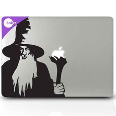 MAC DECALS vinyl laptop stickers hobbit decal - Lord of the Rings, Gandalf the Grey - Removable Decal. $9.98, via Etsy.
