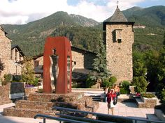 Andorra, one of the smallest european countries between france and spain