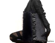 STERNENTAU handmade Bags #faux #fur #shopper Fur Bag, Handmade Bags, Austria, Faux Fur, Leather, Fashion, Moda, Handmade Purses, La Mode