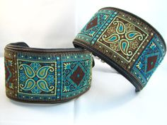 Leather Sighthound Collars made for my Galgos & Whippet by my favourite CollarLady Lisa. Want one for your dog ? Drop me a line !