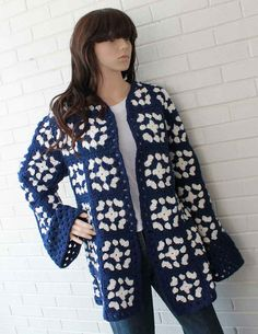 Granny Square Coat Pattern PDF by Maggiescrochet on Etsy