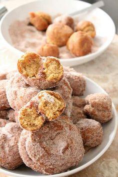 Fried pumpkin doughnuts