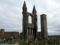 St Andrews Cathedral (medieval) ruins, St Andrews Scotland