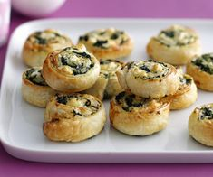 Squeeze excess moisture from spinach. pat dry between sheets of absorbent paper. Sprinkle spinach and combined cheeses over pastry sheets. Lunch Box Recipes, Pie Recipes, Whole Food Recipes, Cooking Recipes, Spinach Recipes, Savoury Recipes, Pastry Recipes, Pudding Recipes, Thermomix