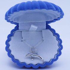 Mako mermaid Mimmi Dolphin necklace pendant by thesilverart