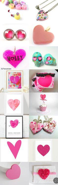 Falling In Love by Gabbie on Etsy #etsy #treasury #cute #pink #hearts