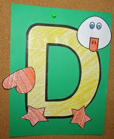 Free Letter D-Duck Preschool Craft