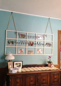 A Paper Heart Garland And A Glass Panel Door Frame Is Now...{#DIY} ~ Coffee With The Mrs.
