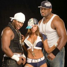 Candice Michelle with Cryme    Time Shad & JTG
