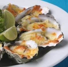 Oysters Rockefeller... even though i don't like oysters these look pretty good