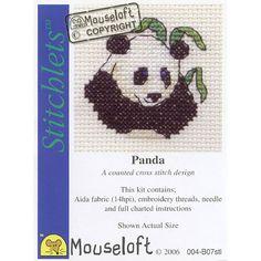 Mouseloft Panda Stitchlets