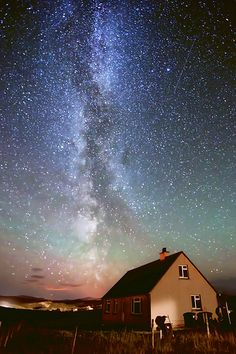 The Milky Way seen over the Isle of Lewis, Scotland