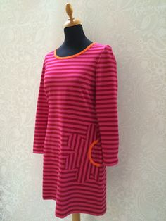 T-shirt kjole, basis Clothing Patterns, Tunic Tops, Dresses With Sleeves, Women's Fashion, Sewing, Long Sleeve, Creative, Tips, T Shirt