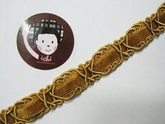 Scroll Braid Trim Gimp Braid Braided Gimp Trim Cream trim Chinese Braided Trim 5 Yards 12 Cream Gimp Braided Gold Metallic Edge Trim