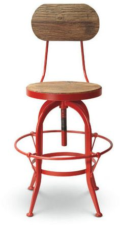 Dot & Bo Red Diner Bar Chair.Our Red Diner Barstool is constructed of enameled metal, in cherry red bringing to mind American Graffiti, Drive-Ins, and the golden age of the great American diner. Our bar chair pairs well with our Red Diner Stools, for a wonderfully vintage-inspired kitchen! https://api.shopstyle.com/action/apiVisitRetailer?id=473881214&pid=uid8100-34415590-43