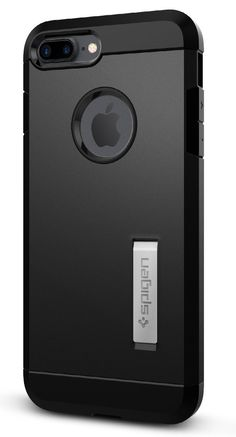 Spigen Tough Armor iPhone 7 Plus Case with Extreme Heavy Duty Protection and Air Cushion Technology with Kickstand for iPhone 7 Plus 2016 - Black. Extreme dual layer protection made with flexible bumper and hard PC back. Front-faced tunnel provides better projection of sound. Raised lips ensures extra protection of screen and camera with Kickstand. Mil-Grade Protection with Air-Cushion Technology for all corners. Apple iPhone 7 Plus Case Compatible with Apple iPhone 7 Plus (2016).