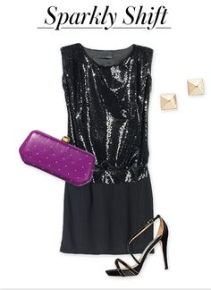 sparkly shift #instyle
