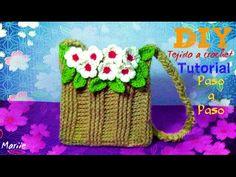 Morralito Rejita de flores!!! Tejido a crochet - YouTube