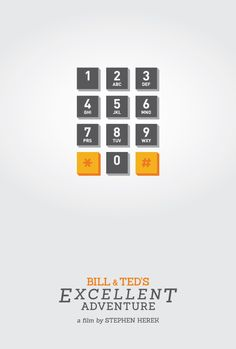Bill & Ted's Excellent Adventure (1989) ~ Minimal Movie Poster by Peter Magulak #amusementphile
