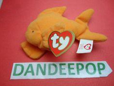 TY original Teenie Beanie Babie Goldie Fish 1999 McDonald's Happy Meal Stuffed Animal Toy New find me at www.dandeepop.com
