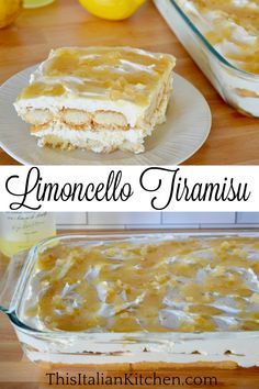 Limoncello Tiramisu is a simple and make-ahead Italian dessert made with Limoncello liqueur, mascarpone cheese, and ladyfinger cookies. Full of bright flavors, you are going to love this lemony version of classic tiramisu. #limoncellotiramisu #lemontiramisu