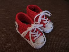 Little sneaker slippers I made for my friend's daughter.
