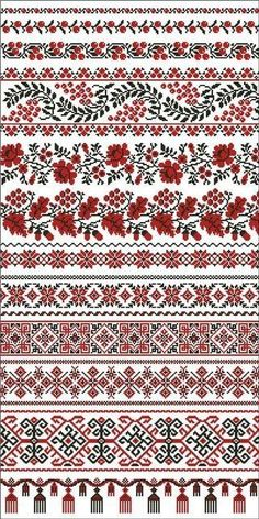 / Фото - рушники - by tammi Cross Stitch Geometric, Cross Stitch Borders, Cross Stitch Designs, Cross Stitching, Cross Stitch Embroidery, Hand Embroidery, Palestinian Embroidery, Hungarian Embroidery, Embroidery Patterns