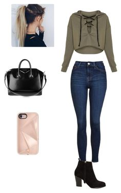 """""""Untitled #107"""" by anahy45 on Polyvore featuring Topshop, Nly Shoes, Capelli New York, Givenchy and Rebecca Minkoff"""