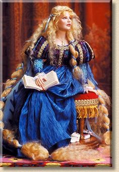 Rapunzel Rapunzel with her long golden hair, was locked in a high tower by a witch. With nothing else to do all day but read, books are piled under her seat. She pauses - is that the witch she hears? - by Martha & Marianne
