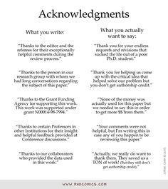 PHD Comics: Acknowledgments (by Jorge Cham Ielts Writing Academic, Persuasive Essay Topics, Scientific Writing, Writing A Research Proposal, Scientific Method, Dissertation Motivation, Dissertation Writing, Writing Skills, Social Science Research