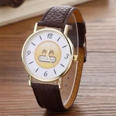2017 Fashion Women Watches Smile Emoji Quartz-Watch Female Clock PU Leather Ladies Wrist Watch Montre Femme Relogio Feminino #63 #watchfemale #watchesfemale #watchfemaleusa #watches  #USA