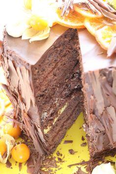 Rezept für eine großartige Schoko Torte mit Safran und Orange