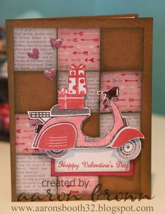Pink Scooter Card - easily can turn into a Birthday Card.