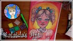 "Check out this YouTube channel with lovely and beautiful art!    Kalaida's Art  - Whimsical Girl ""Lollipop"""