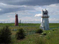 Killingholme Low Lighthouses -  Lincolnshire  (2 north and south) Current lighthouse built: North 1852 South 1836