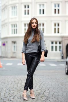 Ingrid Holm Valentino Rockstuds and leather pants. More on my blog www.ingridholm.no